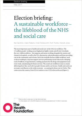 Election briefing: A sustainable workforce