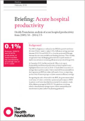 Acute hospital productivity