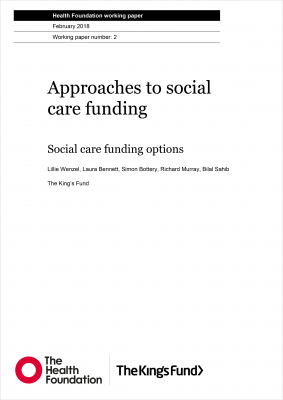 Approaches to social care funding