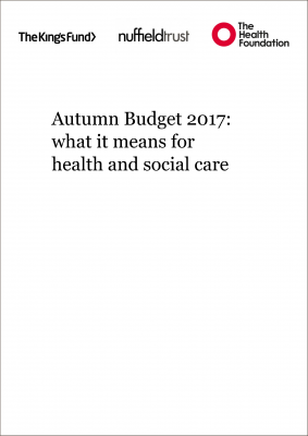 Autumn Budget 2017: what it means for health and social care