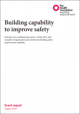Building capability to improve safety