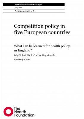 Competition policy in five European countries