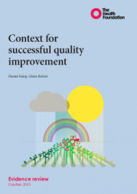Context for successful quality improvement