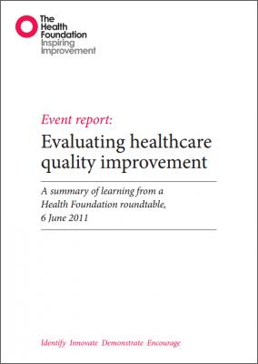 Evaluating healthcare quality improvement