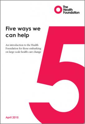 Five ways we can help
