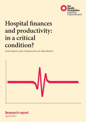 Hospital finances and productivity: in a critical condition?