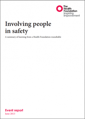 Involving people in safety
