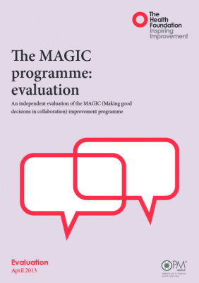 The MAGIC programme: evaluation