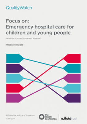 Focus on: Emergency hospital care for children and young people