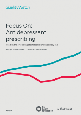 QualityWatch: Focus on antidepressant prescribing