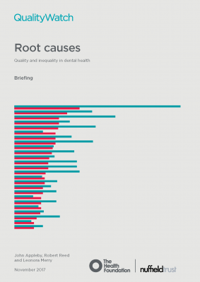 Root causes: quality and inequality in dental health
