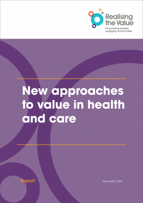 New approaches to value in health and care