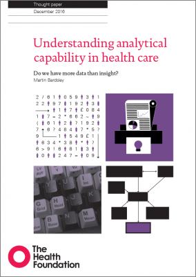 Understanding analytical capability in health care
